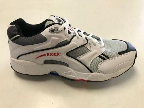 Men/'s Etonic Leather /& Mesh White//Black//Gray Running Walking Athletic Shoes NIB