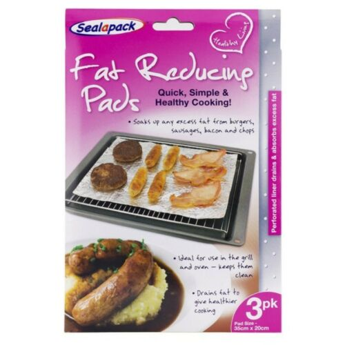 Fat reducing pads grill oven healthy cooking eating diet 3pk