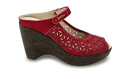 Jambu Journey Too Red Sporty Wedge womens sizes 6-10// NEW!!!