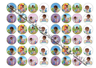 48  Doc mcstuffins Cake Toppers 30mm Printed on premium rice paper