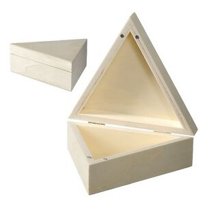 Genial Image Is Loading Wooden Triangle Box Magnetic Lid Storage Jewellery Trinket