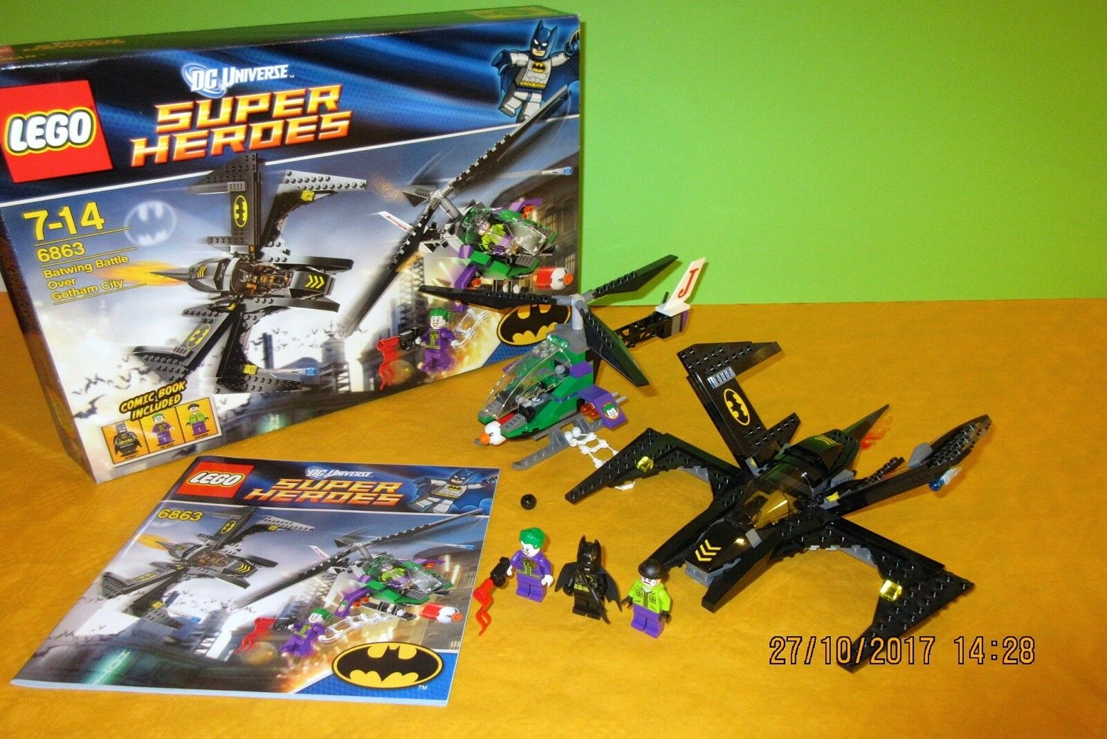 ♥LEGO♥ Batman Super Heroes 6863 Battle Over Gotham City, komplett, Figuren, BA..