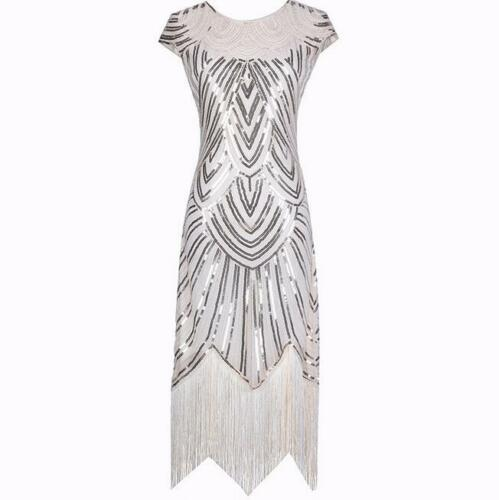 1920s Flapper Costume Great Gatsby Party Fancy Prom Evening Cocktail Dress 6--18