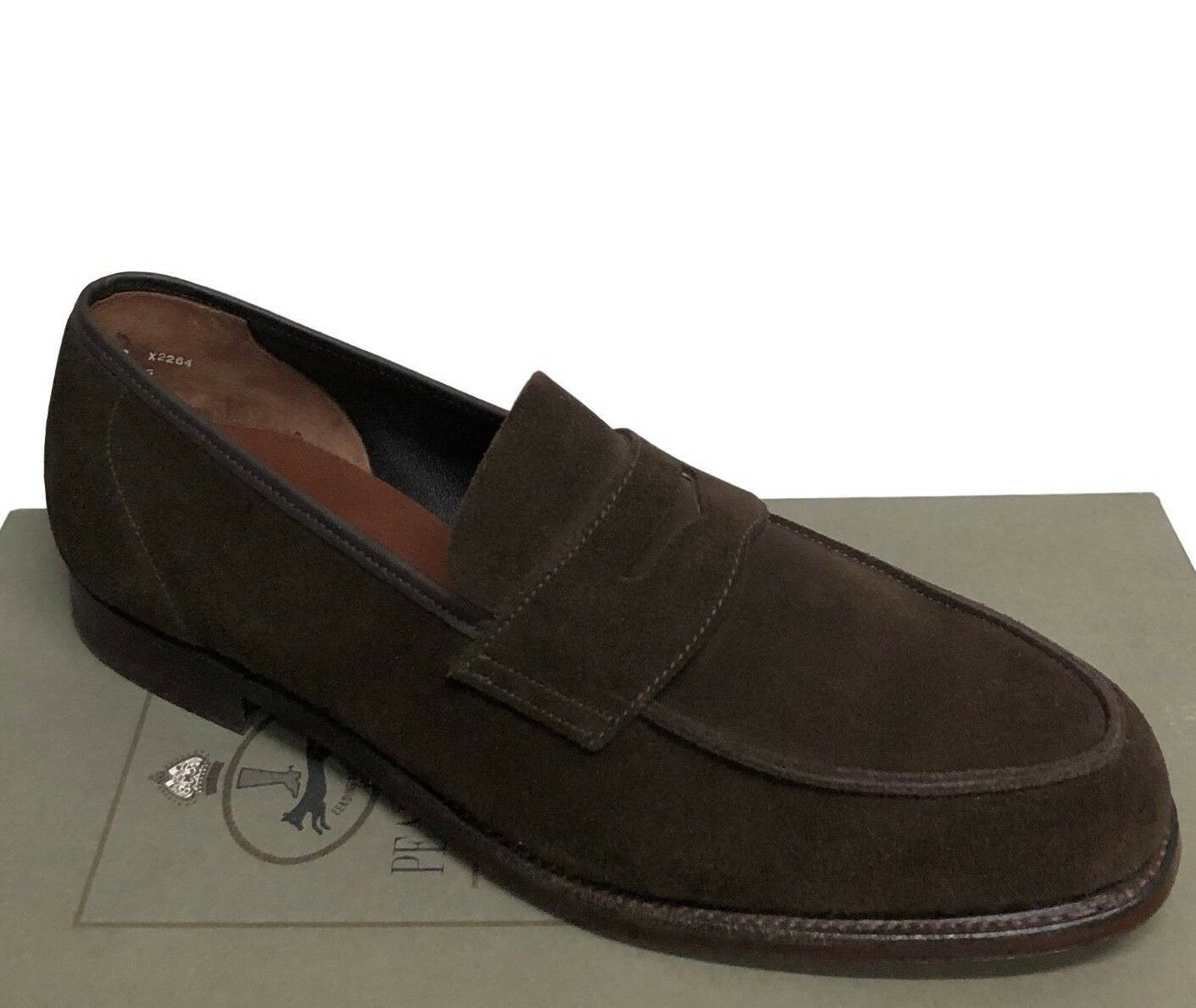 Peal & & & Co by Alfred Ssilver Brown Suede Apron Toe New Loafers Size 10 0a8bcc
