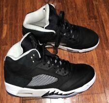 super popular d3b86 b7178 Air Jordan Retro 5 Oreo Size 9 Black Cool Grey White 136027-035 LYFE