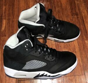 da9853e201979 Air Jordan Retro 5 Oreo Size 9 Black Cool Grey White 136027-035 LYFE ...