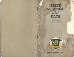 Vintage-Ethyl-Brief-Passenger-Car-Data-1953-Booklet-40-pages-6-3-4-034-by-4-1-4-034