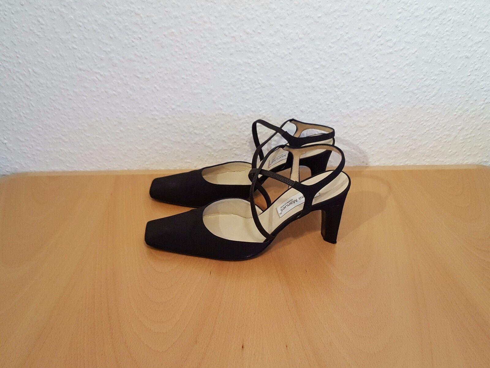 Andrea Manuelli High Heels Pumps Damenschuhe Damenschuhe Damenschuhe Fersenriemchen Gr. 39 - 9cm Absätze 3bd35e