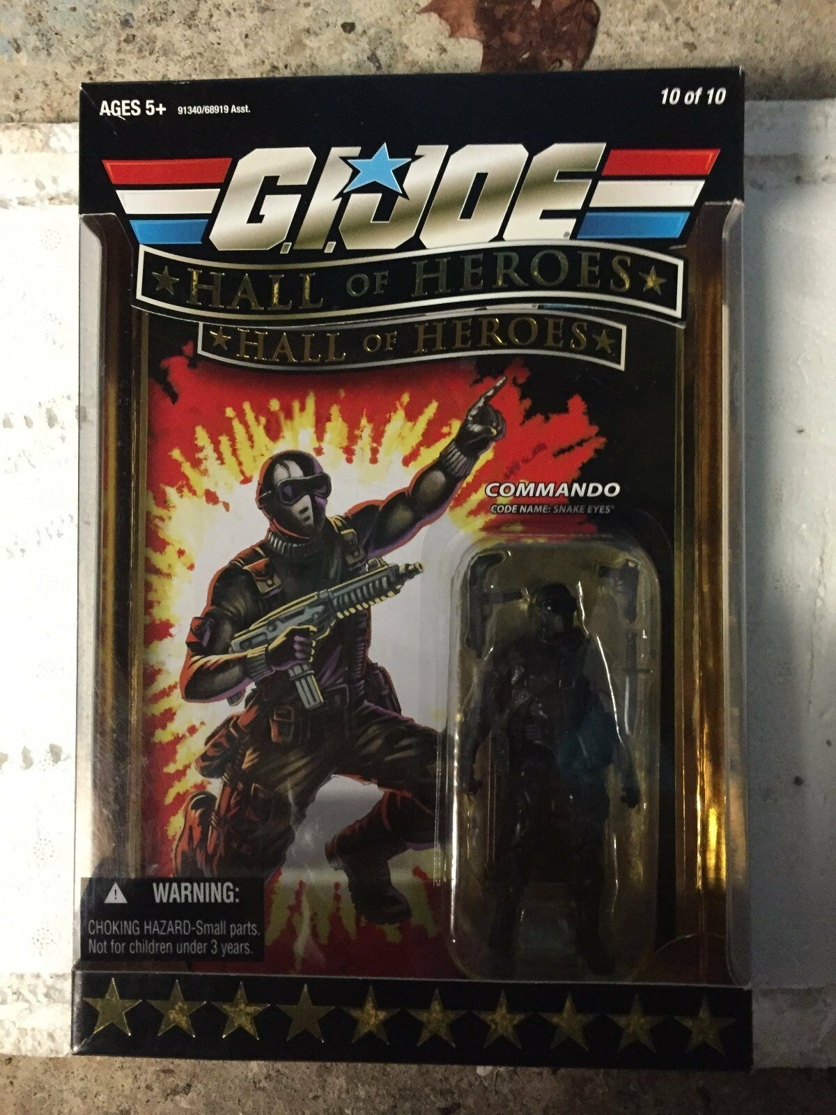 Brand New Sealed GI JOE Hall of Heroes Commando Snake Eyes