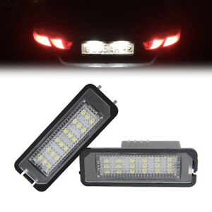 Led-Kennzeichenbeleuchtung-18SMD-fuer-VW-Golf-5-6-Passat-3C-Lupo-Polo-9N-Scirocco