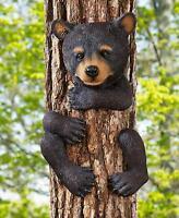 Animal Tree Hugger Sculpture Outdoor Cabin Lodge Statue Yard Art Black Bear