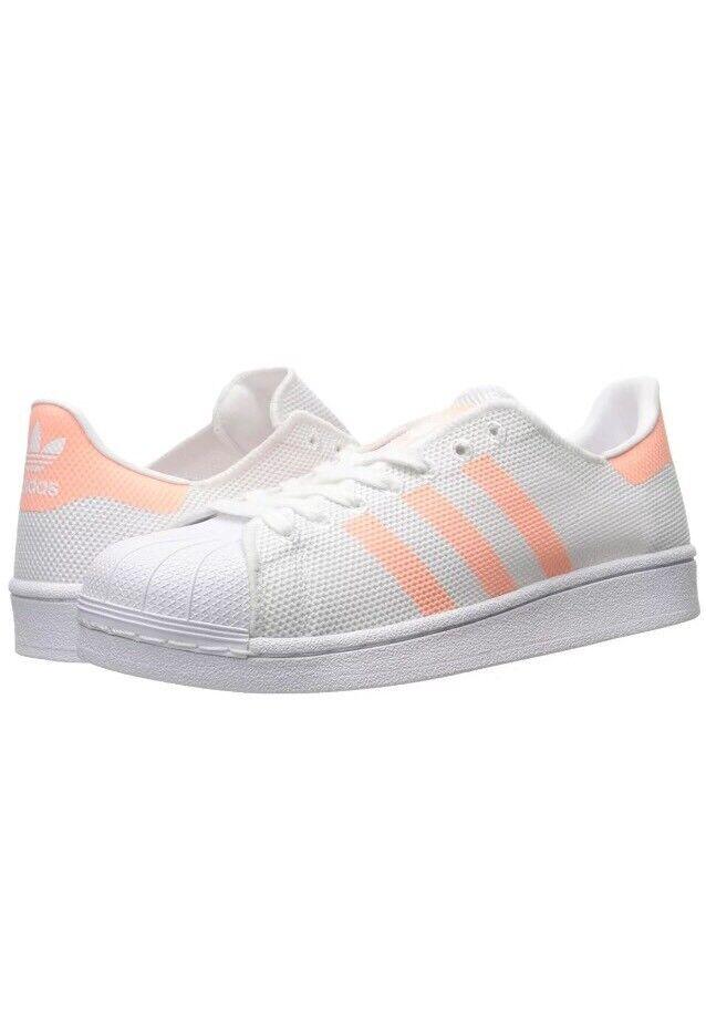 Neue adidas originals superstar Damenss modeldamenschuhe weiße sunglow ba7736