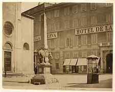 Italia, Roma. Facciata dalla Minerva  Vintage albumen print. Italy.  Tirage al