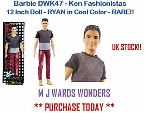 Barbie-DWK47-Ken-Fashionistas-12-Inch-Doll-RYAN-in-Cool-Color-RARE