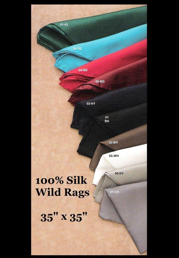 100% Seda ~ Salvaje Rag ~ Bufanda/Bufandas/Vaquero/ Colores/ Sass 88.9cm