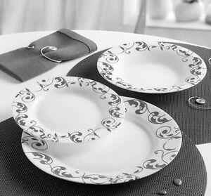 Servizio di piatti arcopal luminarc x 6 persone jazzy grey - Servizio piatti da tavola in arcopal pz 18 prometeo ...