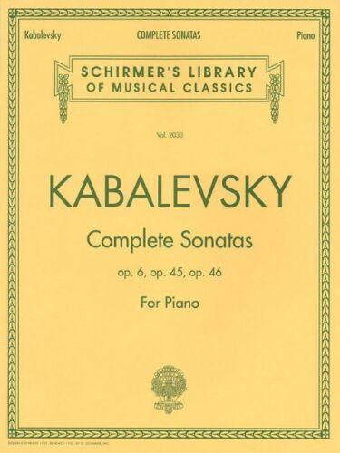 Dmitri Kabalevsky Complete Sonatas for Piano Sonata No 1 Op 6; Sonat 050483237