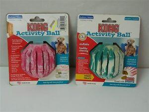 Gioco-per-cani-attivita-snack-KONG-ACTIVITY-BALL-Media-Rosa-Verde-in-gomma-M336