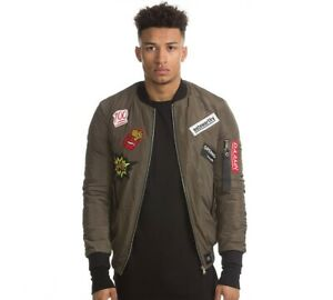 get cheap look for how to find Details about Mens Sixth June Patch Khaki Bomber