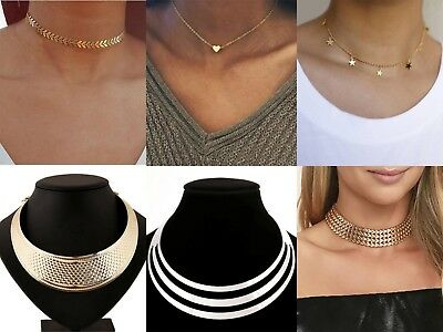 Ladies Women Gold Silver Chunky Punk Chain-Necklace Choker Bracelet For Wom T9H1