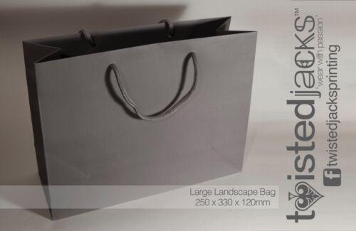 Large Custom Printed Birthday Bag Personalised Print Landscape Bag Rope Detail