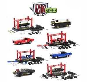 Details about M2 Machines 1:64 MODEL-KIT & AUTO-LIFT WAVE 9 Set of 4  Diecast Car 37000-09H