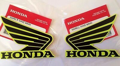 Honda Wing Fuel Tank Decal Wings Sticker 2 x 95mm Black /& Lemon Ice Yellow