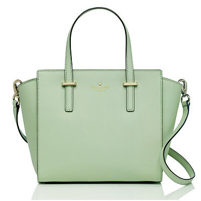 NWT Kate Spade *MINT Mojito* Small Hayden *Saffiano LEATHER* purse bag satchel