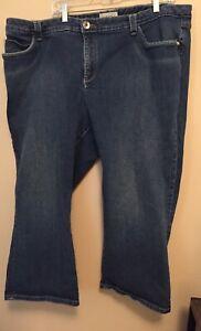 Venezia-Blue-Jean-Capri-Women-039-s-Plus-Size-24-Flap-Pockets-12-034-Rise-24-034-Inseam