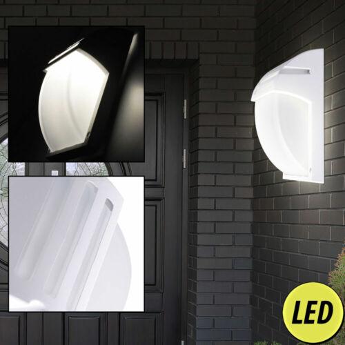 LED Außen Wand Leuchte Garten Strahler ALU Glas Hof Beleuchtung schwarz weiß