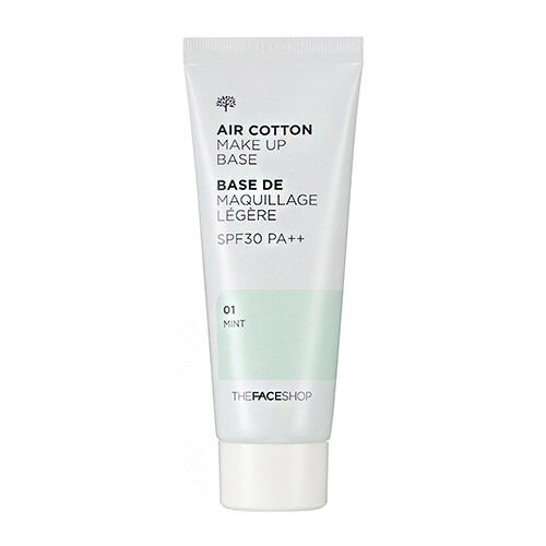 [The FACE Shop] Air Cotton Makeup Base SPF30 PA++ 01 Mint, Upgrade Lovely ME:EX