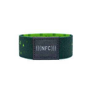 1-NFC-Armband-flexibel-NXP-NTAG-216-924-Byte-gruen-pixel-Groesse-S