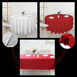 Rectangle Rond Noël Rouge Nappe polyester Table Nappe Festive Motif