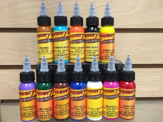 Eternal Tattoo Ink 12 Color Primary Ink Professional Set 1 Ounce 100 ...