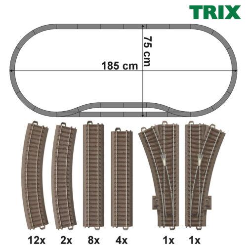 Trix 62000-s1 h0 C-BINARIO-Set 28 pezzi con 2 morbido Nuovo +