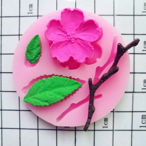 Beautiful 3D Food-grade Silicone Mold Peach Blossom Cake Tool Candy Baking Mold