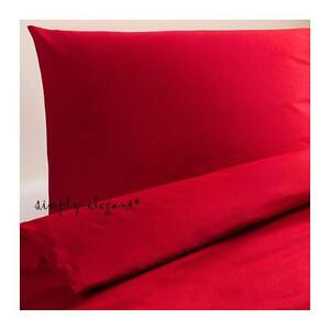 IKEA-Dvala-Red-Twin-Duvet-Quilt-Cover-amp-Pillowcase-Dvala-Twin-size-New-sealed