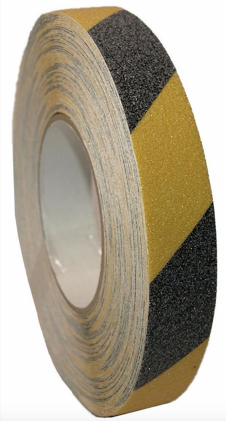 25mm x 20 Metre Anti Slip Adhesive Tape Hazard Warning Safety Grip Grit