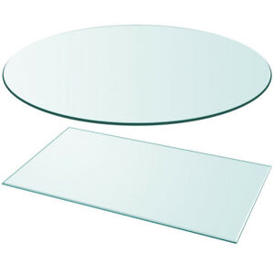 Image is loading vidaXL-Table-Top -Glass-Clear-Tempered-Replacement-Protection-  sc 1 st  eBay & vidaXL Table Top Glass Clear Tempered Replacement Protection Cover ...