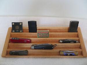 Knife Case Knives Matchbox Lighter 5 Tier Stadium Wood