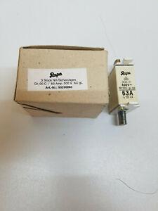 3Stueck-NH-Sicherungen-Sicherungen-Groesse-C00-63A-500V