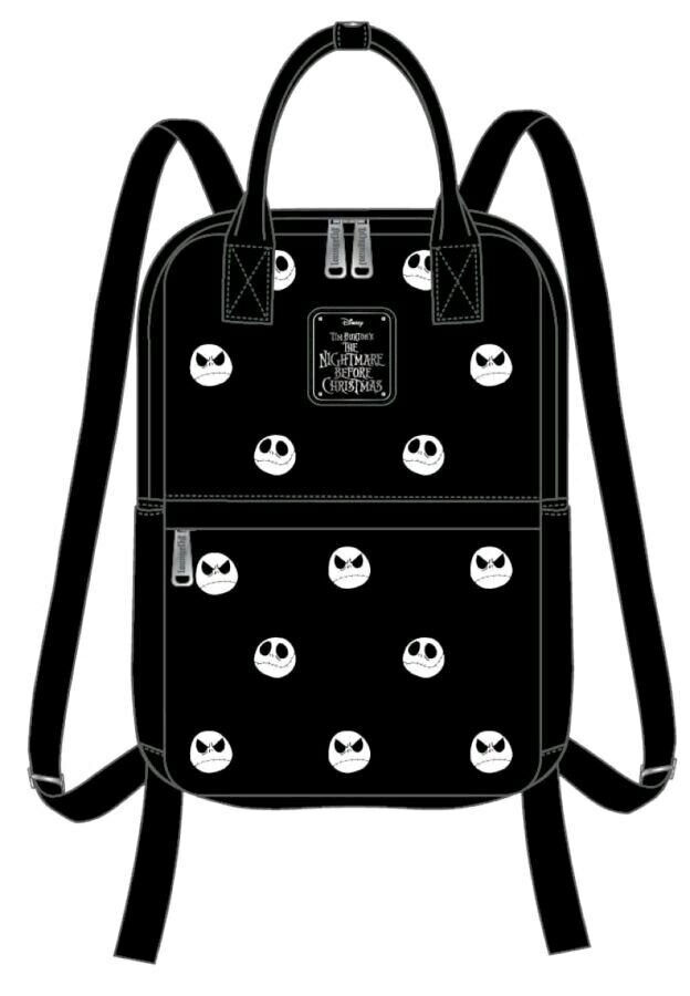 The Nightmare Before Christmas - Jack Head Embroiderot Backpack-LOUWDBK0946-L...