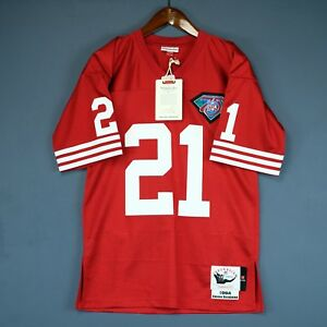a0d55025 100% Authentic Deion Sanders Mitchell & Ness 49ers NFL Jersey Size ...