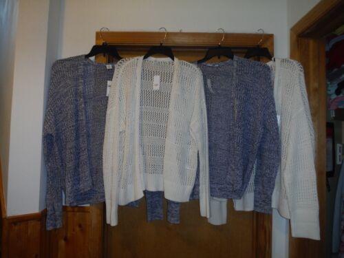 Long Sleeve Open Sweaters Cardigan/'s GAP 2XL,XL,Ivory /& Blue 100/% cotton NWT