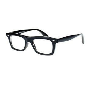 Old Man Glasses Frame : New Mens Black Retro Old School Thick Plastic Horn Rim ...
