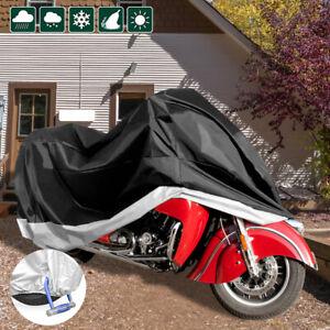Waterproof-Motorcycle-Motorbike-Scooter-Rain-Snow-Dust-Vented-Storage-Cover-DW