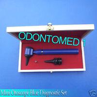 Mini Otoscope Blue Diagnostic Set With Box