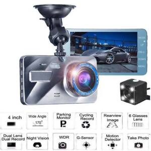 4-Dual-Lens-1080P-HD-Car-DVR-Rearview-Video-Dash-Cam-Recorder-Camera
