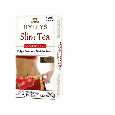 Hyleys Tea Slim Tea Goji Berry 1 32 Ounce 25 Tea Bags Original