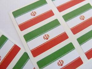 Mini-Pack-de-pegatinas-auta-adhesivo-Iran-Bandera-etiquetas-fr146